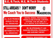 Tuition classes for be, me,bba,mba