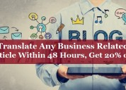 Translate any business related article in 48 hours
