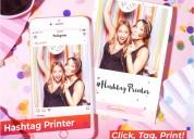 Instagram hashtag photo box and event photo printe