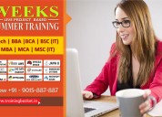 4/6 weeks industrial summer training for b.tech