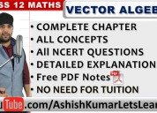 Free online classes for vector algebra class 12 ma