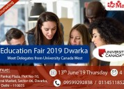 University canada west education fair 2019 at dwar