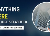 Post ads for free, online classifieds advertising