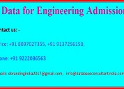 Data for engineering admission