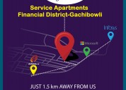 Service apartments in gachibowli   skynest