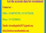Get the accurate data for recruitment
