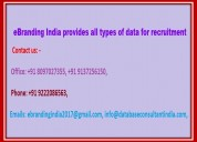 All types of data for recruitment