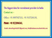 The biggest data for recruitment provider in india