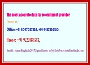 The most accurate data for recruitment provider