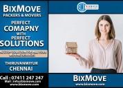 Bixmove packers and movers thiruvanmiyur (chennai)