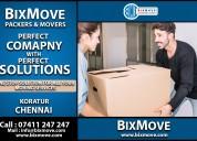 Bixmove packers and movers koratur (chennai)