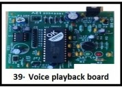 Voice playback board  and inplant training for it