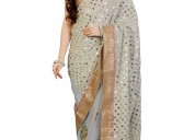 Buy latest collection of mirror work sarees online