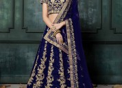Women's navy blue color dori sequins lehenga choli