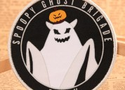 Spoopy ghost brigade custom woven patches