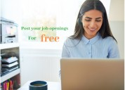 Unlimited free job posting with hullo jobs
