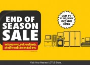 End of season sale offers on lotus electronics