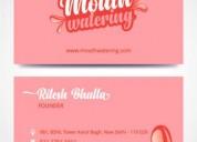 Non tearable business cards design delhi