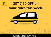 A luxurious cab service on rent for one-way trip d