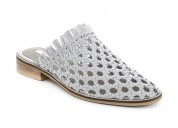 Buy womens white woven flat mules from london rag