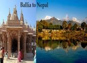 Ballia to nepal taxi service, ballia to nepal cab