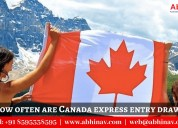 How often are canada express entry draw?