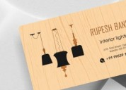 Wood business cards design | wood business cards