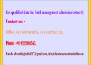 Get qualified data for hotel management admission