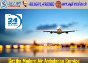 Pick air ambulance in delhi with extraordinary med