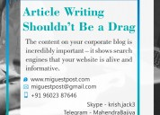 Unique article & content writing services for high