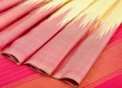 Silk kanjivaram linen sarees by weavemaya