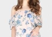 Buy blue dahlia off-shoulder top at london rag