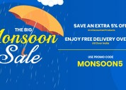 Monsoon sale 2019 extra 5% off | techhark