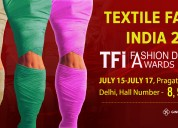 Find ginni filaments at textile fairs india 2019