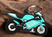 Motorbike pvc keychain