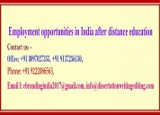 Employment opportunities in india after distance
