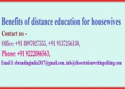 Benefits of distance education for housewives