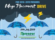 Mega placement drive for it freshers – 2019