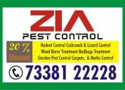 Zia pest control  flat 50% discount  cockroach