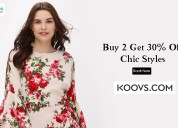 Koovs coupons, deals & offers: flat 50% off select