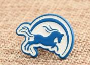Ocean blue horse custom pins no minimum