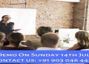 Free hadoop training demo on 14th july @ 10 am