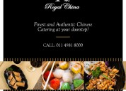 Enjoy mouth watering and authentic chinese food