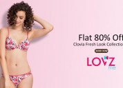 Lovzme  coupons, deals & offers: flat 80% off clov