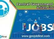 Latest govt job notifications govjobfirst