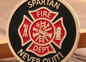 Cheap coins | spartan firefighter challenge coins