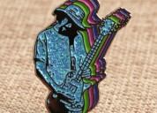 Guitar man custom lapel pins small quantity