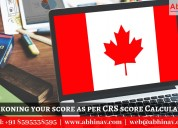 Reckoning your score as per crs score calculator