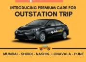 Mumbai shirdi taxi service - quick cab