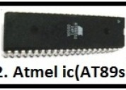 Atmel ic (at89s52) and  robotics projects